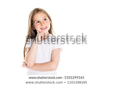megnyerő · szőke · nő · fehér · zokni · izolált - stock fotó © elnur