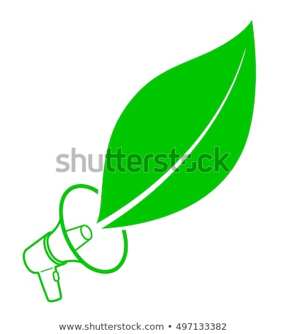 Ecology activist concept with megaphone and leaf Stock photo © adrian_n