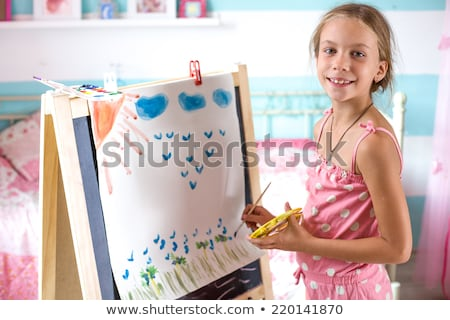 painting of seven year old kid 