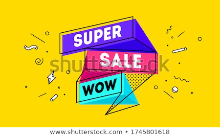 creative memphis style sale and price tag banner design Stock photo © SArts
