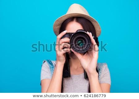 Fotograaf digitale camera foto foto's tape familie Stockfoto © robuart
