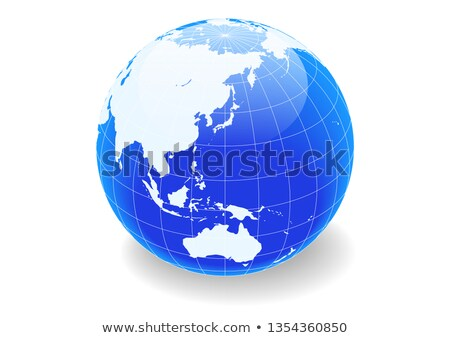 Illustration of a round gradation blue earth Stock photo © Blue_daemon