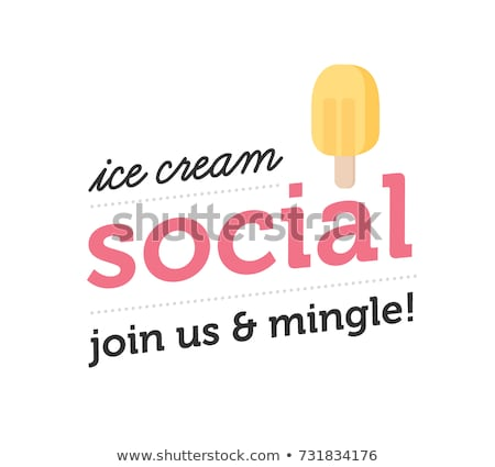 Creative vector illustration of multicolored ice cream Stock photo © ussr