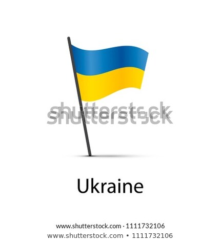 Ukrajna zászló pólus infografika alkotóelem fehér Stock fotó © evgeny89