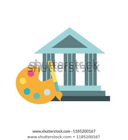 Grafisch ontwerp palet kleur borstel afbeelding business Stockfoto © yupiramos