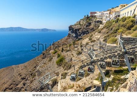 Cable coche ascensor santorini isla Grecia Foto stock © dmitry_rukhlenko