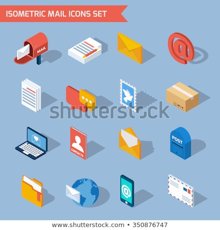 Koerier levering brief isometrische icon vector Stockfoto © pikepicture