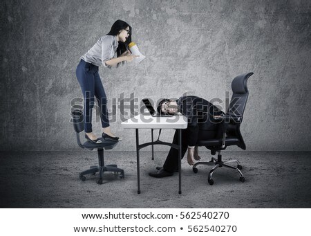 Businessman with a picture of a woman shouting Stock photo © photography33