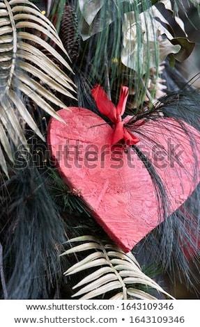 Sevgililer günü kart kırmızı kalpler Yıldız Stok fotoğraf © Mazirama