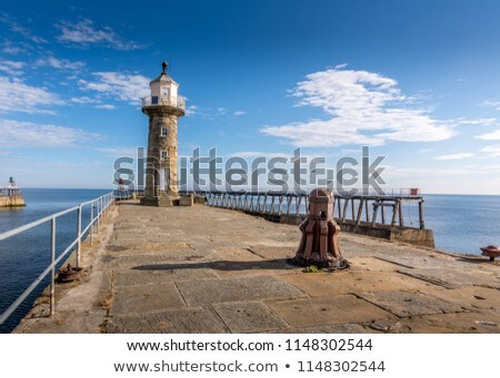 entrance to the harbour at whitby north yorkshire stock photo © photohome