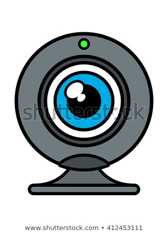 Web cam front view with blue eye iris Stock photo © adrian_n