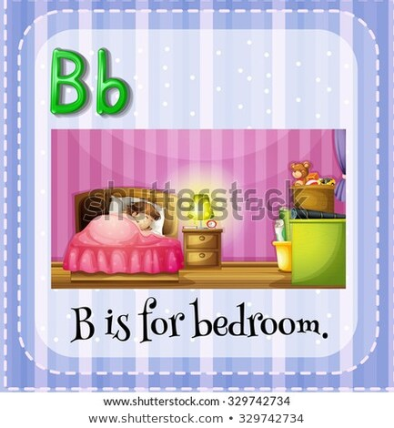 Flashcard letter B is for bed Stock photo © bluering