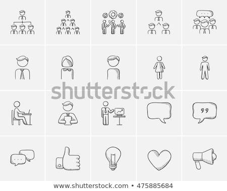 People sketch icon. Stock photo © RAStudio