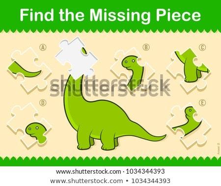 Könnyű gyerekek talál hiányzó darab puzzle Stock fotó © adrian_n