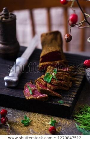 Przyprawy deska do krojenia stylu rustykalny selektywne focus Zdjęcia stock © zoryanchik