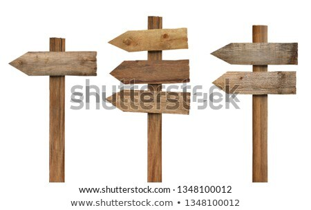Arrow sign on wooden post Stock photo © boggy