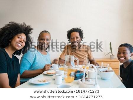 肖像 幸せ アフリカ 家族の肖像画 家族 ストックフォト © Lopolo
