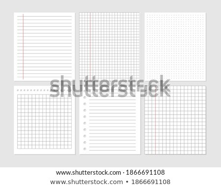 graphical blank paper sheet set for data representation Stock photo © SArts