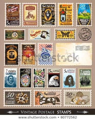 Vecchio post timbro illustrazione prezzo immaginario Foto d'archivio © evgeny89