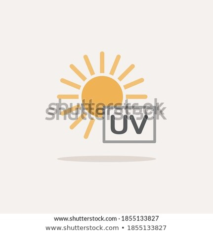 Ultra violet ray sun. Icon. Weather glyph vector illustration Stock photo © Imaagio