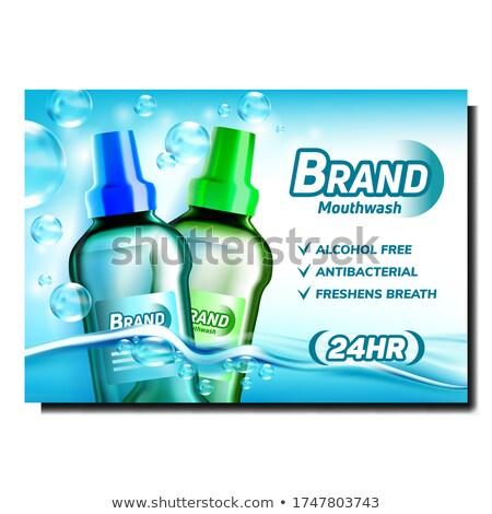 Száj mos kreatív promóciós szalag vektor Stock fotó © pikepicture