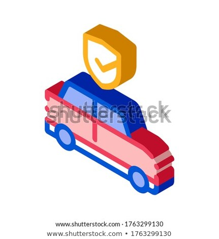 Parking Auto Confirmation isometric icon vector illustration Stock photo © pikepicture