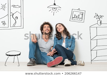 gelukkig · vergadering · binnenshuis · liefde · home - stockfoto © photography33