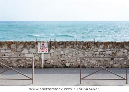 blauwe · hemel · houten · vloer · hemel · frame · zomer · Blauw - stockfoto © meinzahn