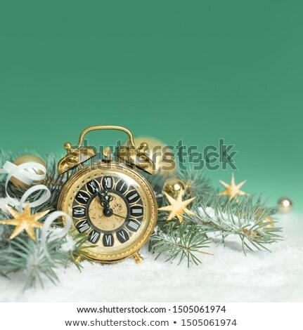 Composite image of alarm clock counting down to twelve Stock photo © wavebreak_media