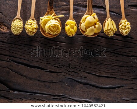 Background design with different types of food on table Stock photo © bluering