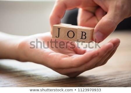Persoon houten baan tekst kandidaat Stockfoto © AndreyPopov