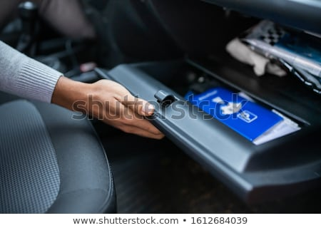 Driver Opening Empty Glovebox Compartment Stock photo © AndreyPopov