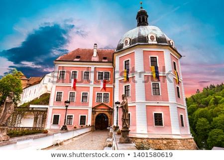 Czechy widoku pałac zamek miasta lasu Zdjęcia stock © borisb17