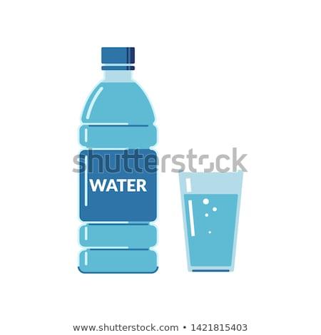 Szkła wody odizolowany charakter graficzne płynnych Zdjęcia stock © Imaagio