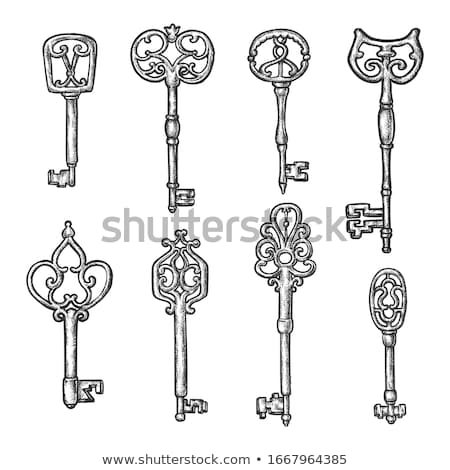 Key Filigree Old Design Antique Monochrome Vector Stock photo © pikepicture