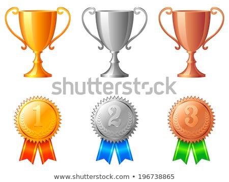 metallic trophy shiny golden cup vector image stock photo © robuart