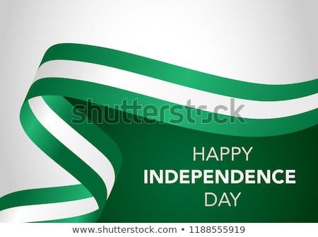 Nigeria flag, vector illustration on a white background. Stock photo © butenkow