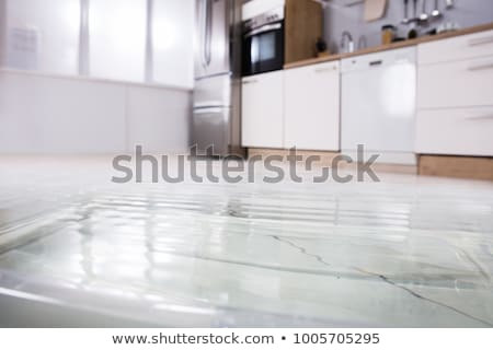 Piętrze kuchnia podziale zmywarka Fotografia Zdjęcia stock © AndreyPopov