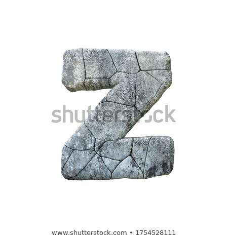 Concrete fracture font Letter Z 3D Stock photo © djmilic