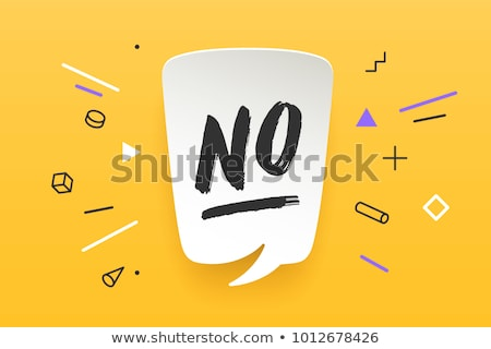 No, speech bubble. Banner, speech bubble, poster and sticker concept Stock photo © FoxysGraphic