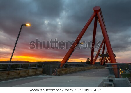 Sunset from Yandhai Nepean Crossing Penrith Stock photo © lovleah