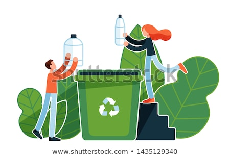 Glass Container for Throwing Litter and Rubbish Stock photo © robuart