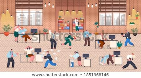 Pánik menedzser fut óra modern terv Stock fotó © hittoon