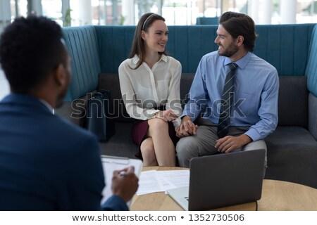 Görmek genç iş adamları oturma Stok fotoğraf © wavebreak_media