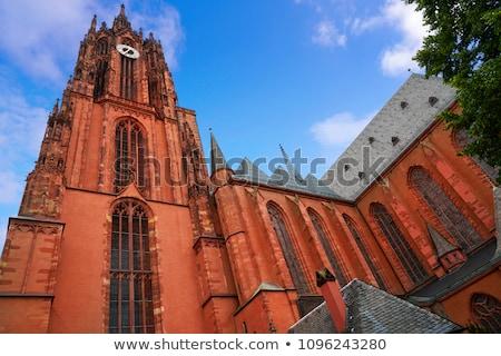 башни собора Франкфурт Германия здании Церкви Сток-фото © manfredxy