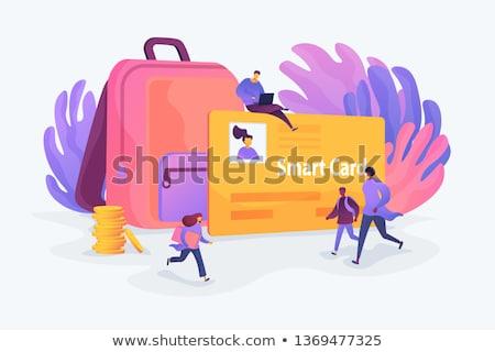 Toegang identificatie kaarten vector metaforen identiteit Stockfoto © RAStudio