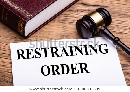 Restraining Order Documents Near Gavel And Law Book Stock photo © AndreyPopov
