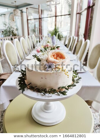 Festive wedding table, decorated with sweets and drinks Stock photo © ElenaBatkova