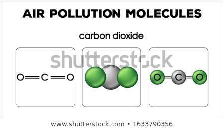 Diagram showing air pollution molecules of carbon dioxide Stock photo © bluering