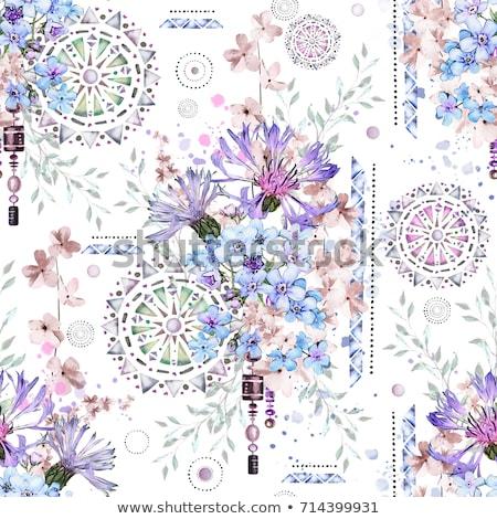 グレー 曼陀羅 パターン 実例 ヨガ 色 ストックフォト © bluering